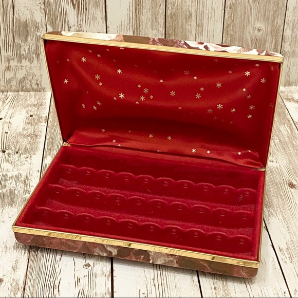 Other - Vintage Jewelry Clutch Hard Case Earrings Holder